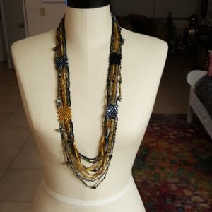 Anthropologie Hand Beaded Necklace